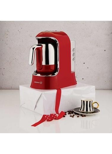 Korkmaz Kahvekolik Aqua Kırmızı/Krom Otomatik Kahve Makinesi Kırmızı